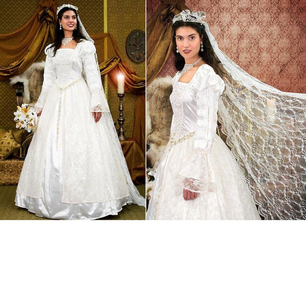 Wedding Gown Veil: Renaissance Wedding Gown & Veil